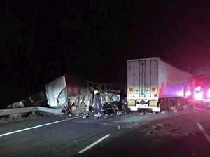 Truck driver dead after crash at Gundagai