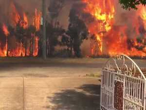 Dramatic footage captures wall of flames: 'Scary as hell'