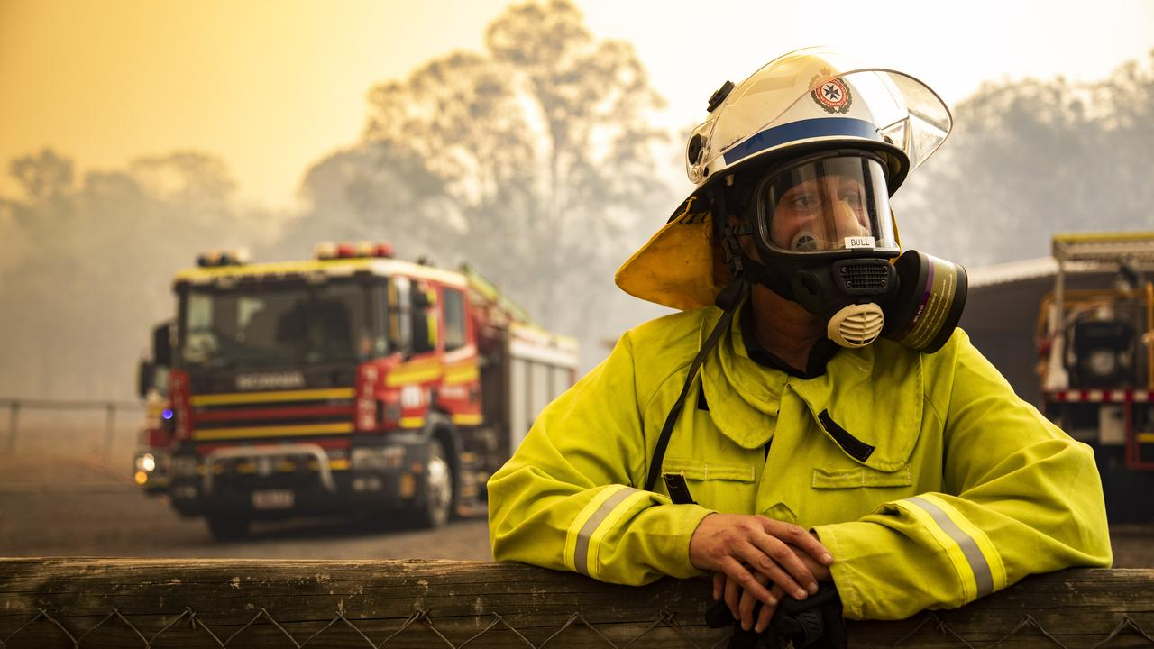 'HOPING LIKE HELL FOR RAIN': Fireys struggle to contain bushfires at the Main Range.