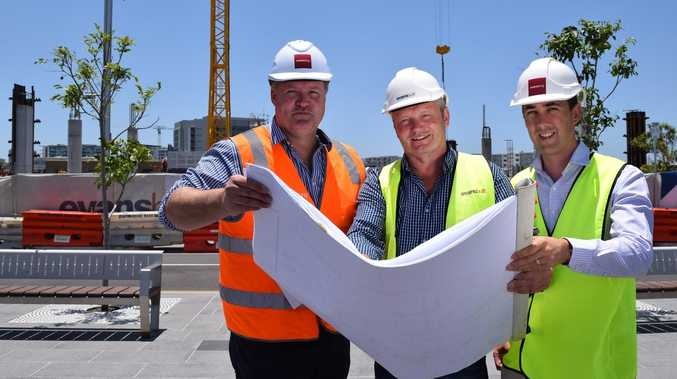 First crane erected for 'groundbreaking' CBD project