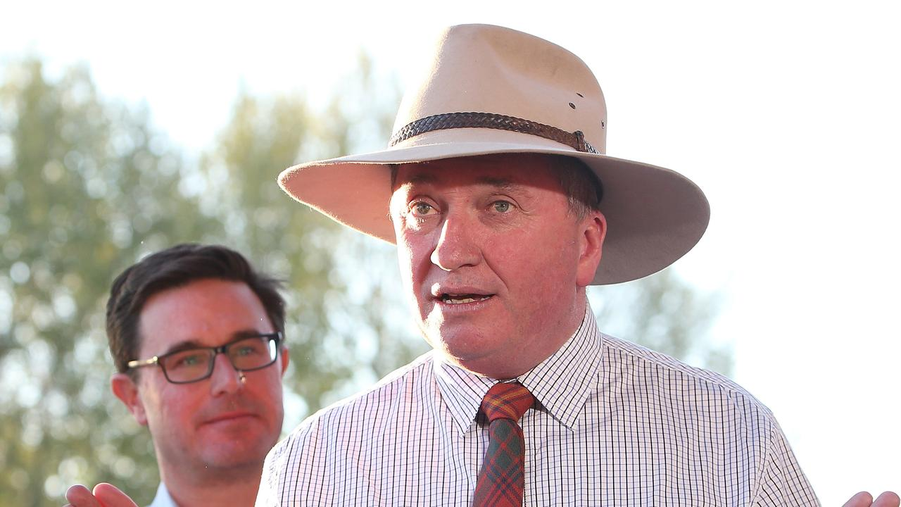 "Barnaby Joyce has come under fire for suggesting two people who died in the NSW bushfires ""most likely"" voted Greens. Picture: Kym Smith"