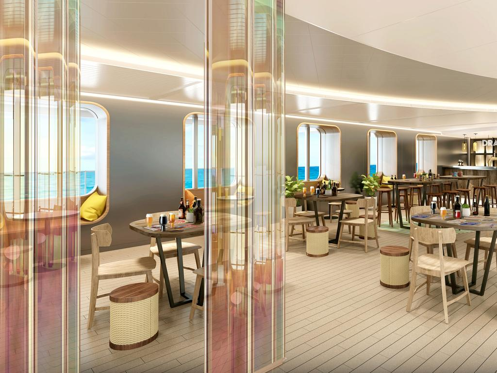 Virgin Voyages's Draught Haus. Picture: Virgin Voyages