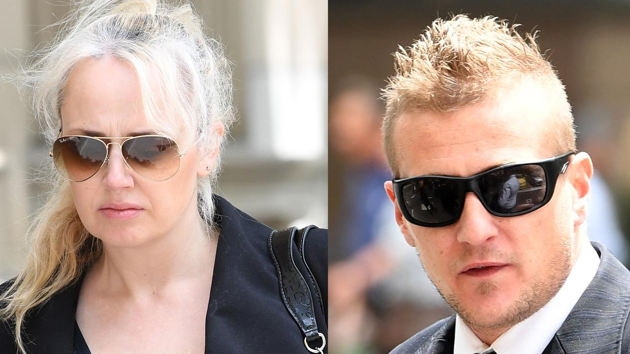 Zita Sukys (right) and Dale Ewins (left) arrives at the Supreme Court of Victoria. Picture: AAP Image/Julian Smith.