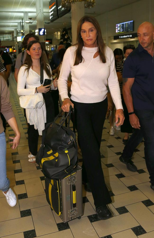 American TV personality Caitlyn Jenner arrived in Brisbane ahead of her appearance on the UK reality television show 'I'm a Celebrity – get me out of here'