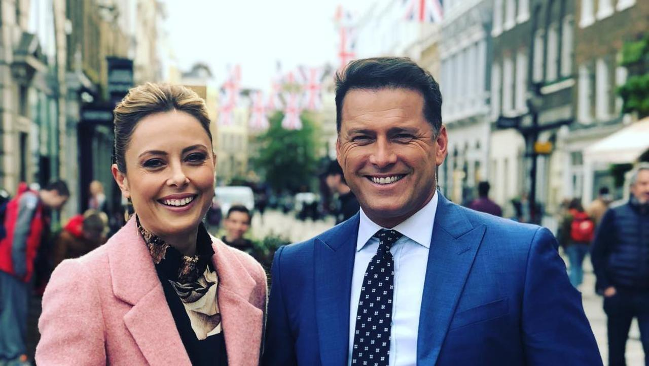 Allison Langdon and Karl Stefanovic. Picture: Instagram