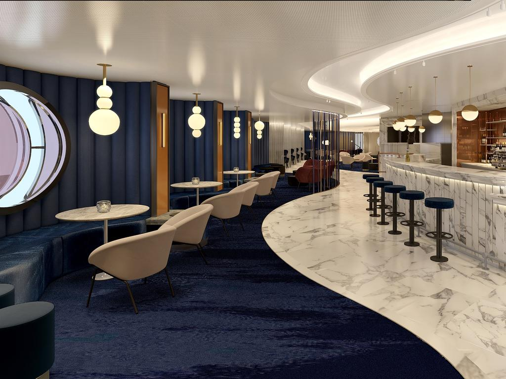 Virgin Voyages Sip Champagne Lounge. Picture: Supplied