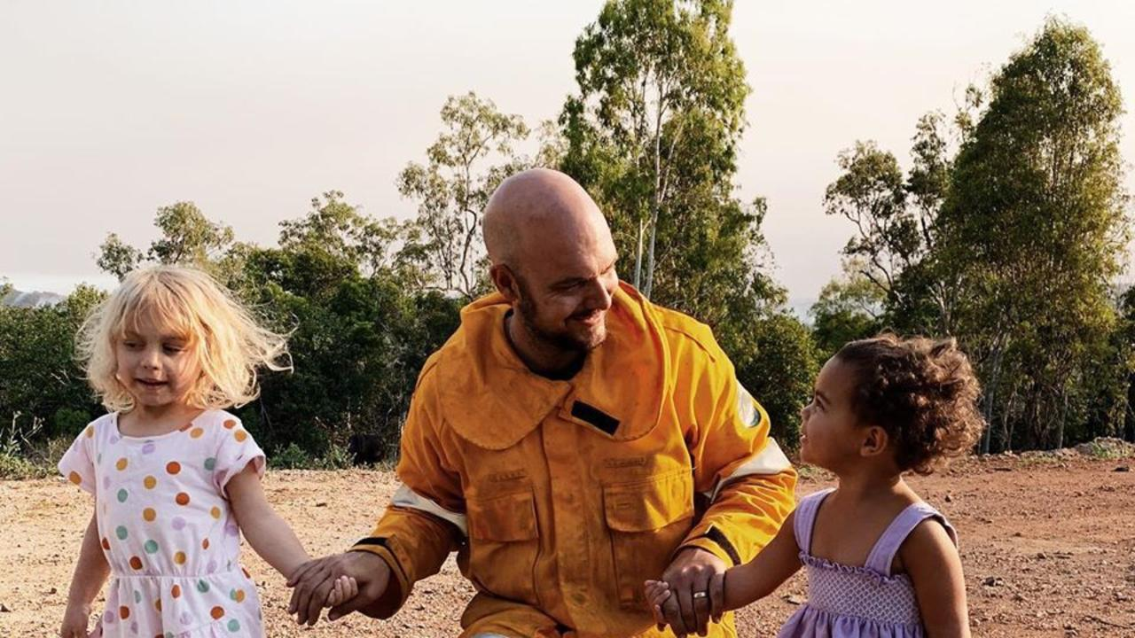 Pauline Gallie took this pic of Tamil coming home to his family after 27 hours fighting fires