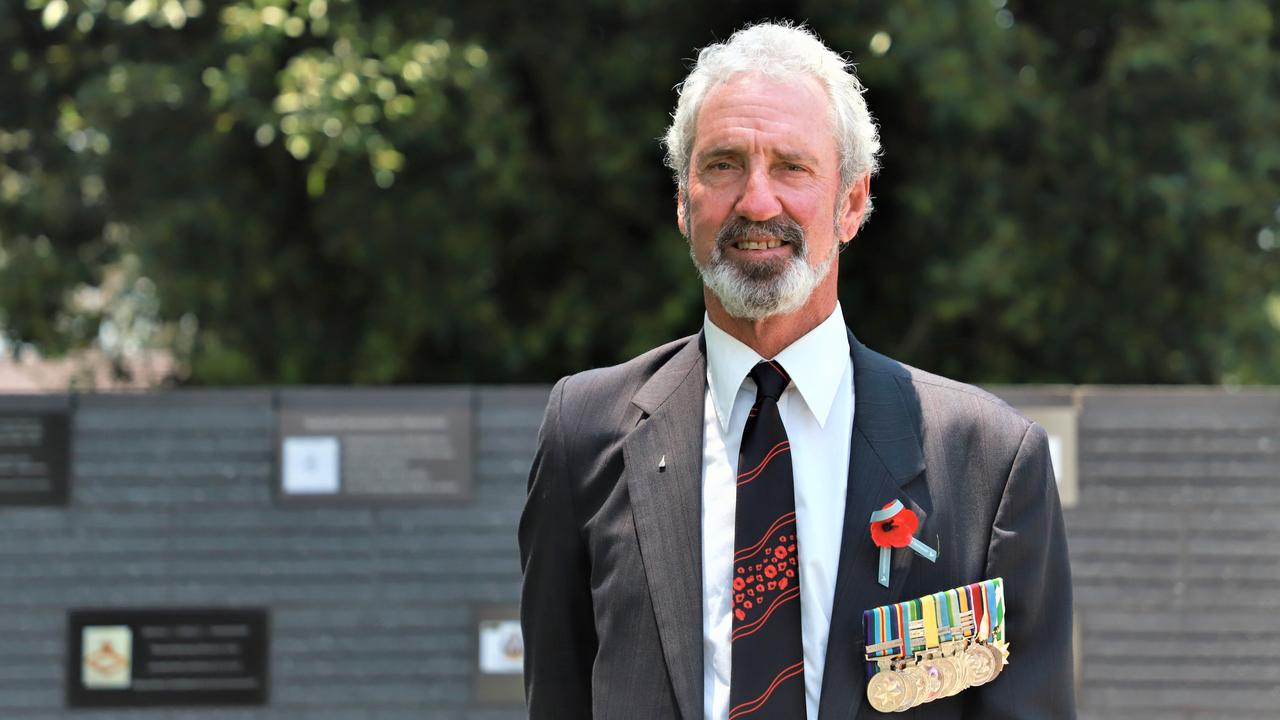 REMEMBER ME: This Remembrance Day, retired RAAF wing commander Alan Curr reflected back on his 43-year career in the military, and the time he got to carrying two of his fallen mates home almost 40 years later. Photo: Lacee Froeschl