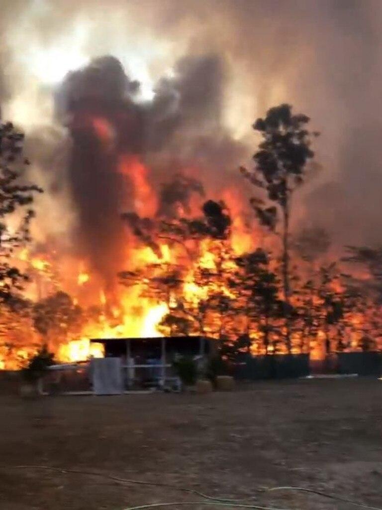 The devastating fire near Yeppoon. Picture: Allen Gadsby/Facebook