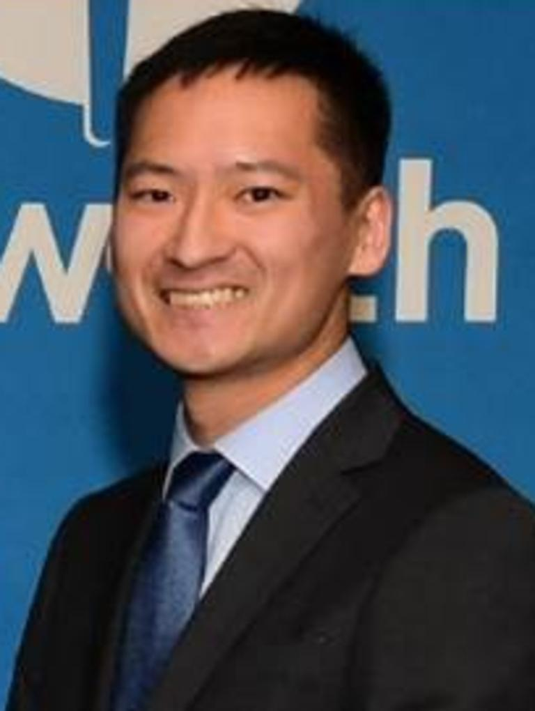 Trainee heart surgeon Dr Robert Xu who died at Victoria Dock in Hobart on November 7.