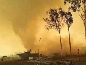 WATCH: Fire tornado wreaks havoc in bushfire zone
