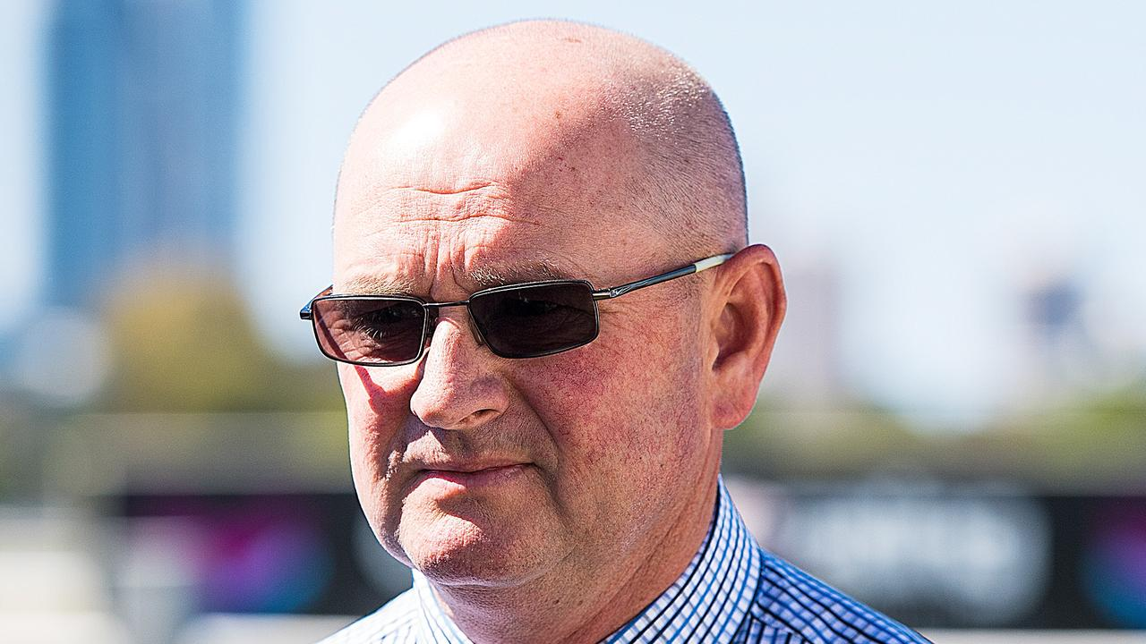 Trainer Toby Edmonds was taken to hospital after being trampled by a horse. Picture: AAP