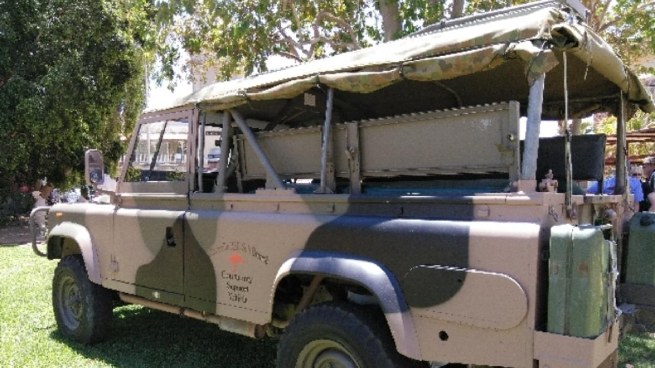 The land-rover that can be used to transport past veterans in ANZAC and remembrance parades.