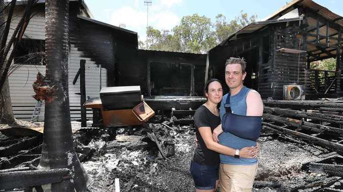 Family's forever home wiped out by wall of fire