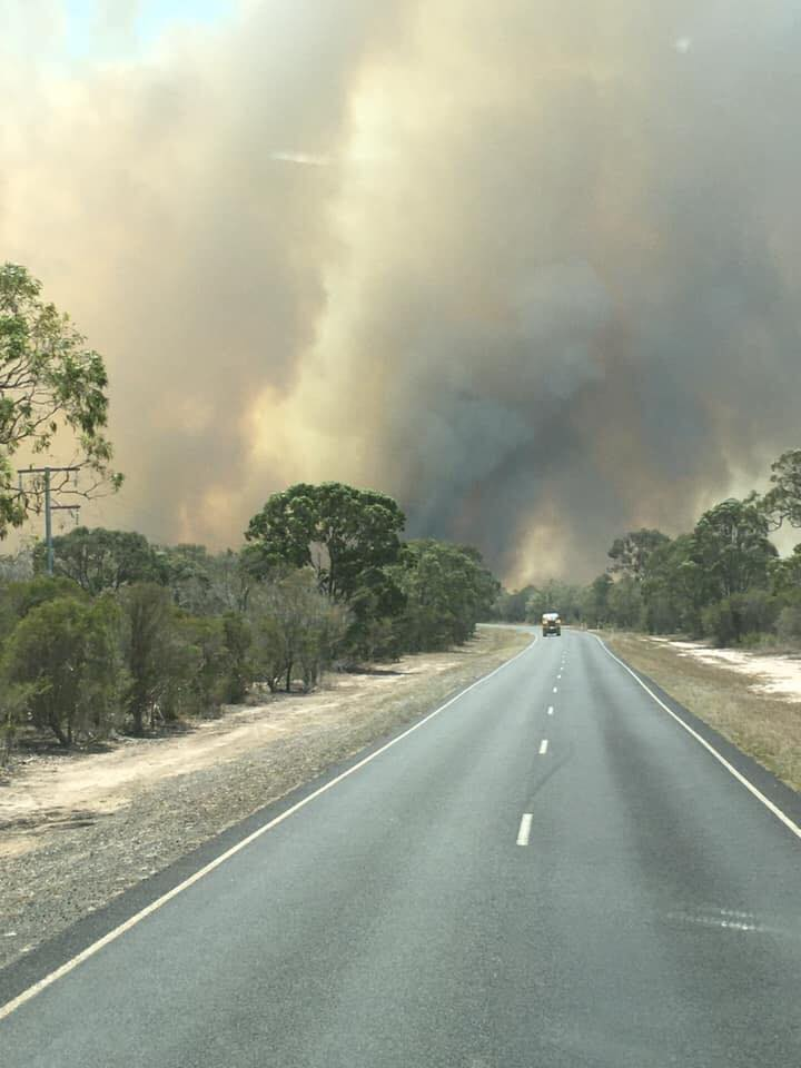 Brad Geizler shared this image of the woodgate fires on social media.