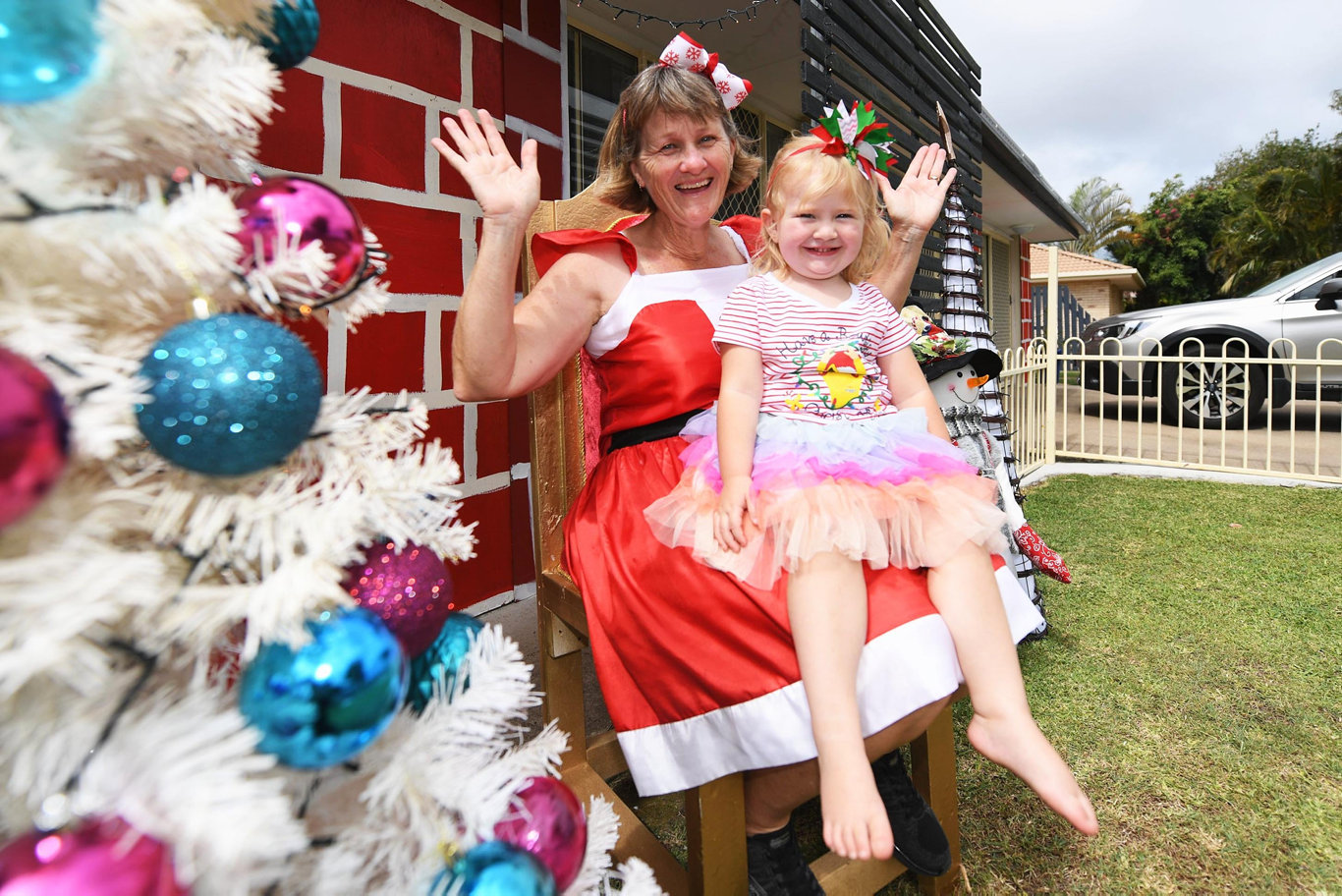 CHRISTMAS TRADITION: Sharon Sadler and her Grandaughter Aria Sadler, 2, will swithc on the lights to the iconic Vicki Parade light on December 1.