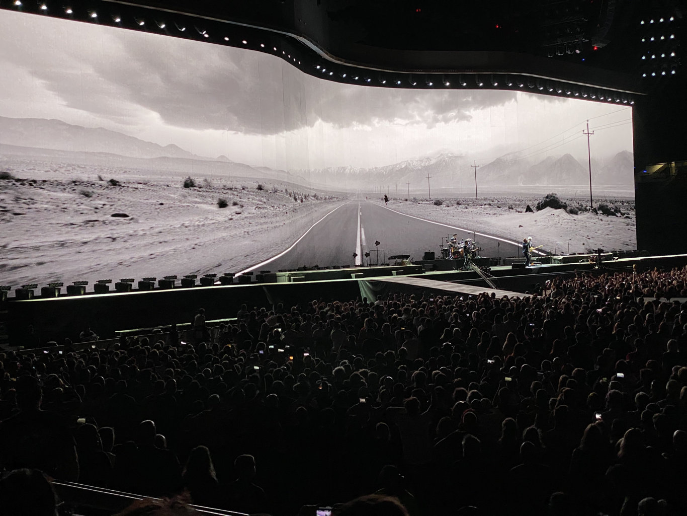 U2 kick off its anniversary Joshua Tree Australian tour in Brisbane at Suncorp Stadium.