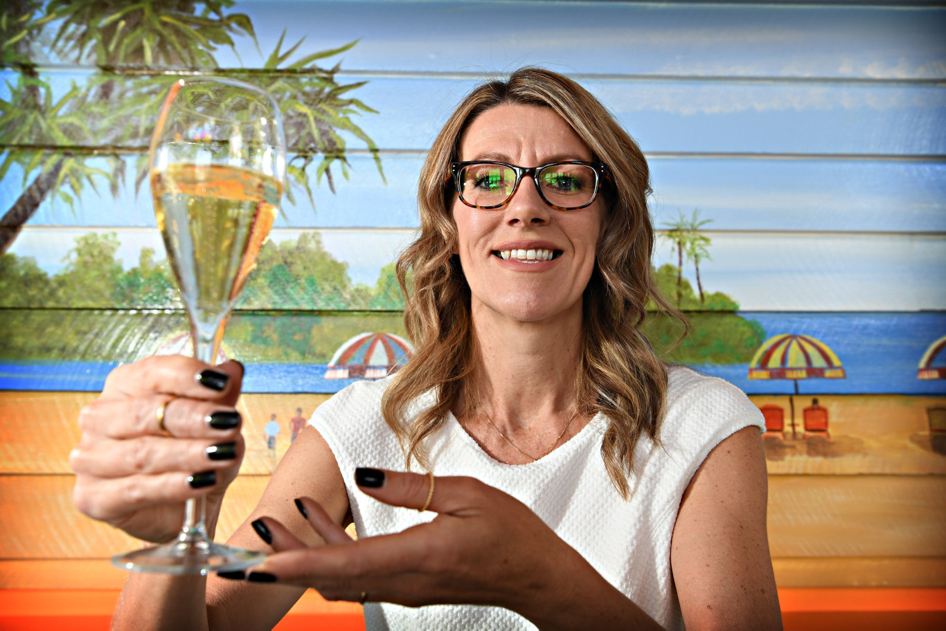Launch of Aussie World Food and Beer Festival.Michelle Seale from Tamburlaine Organic Wines can't wait for the event.