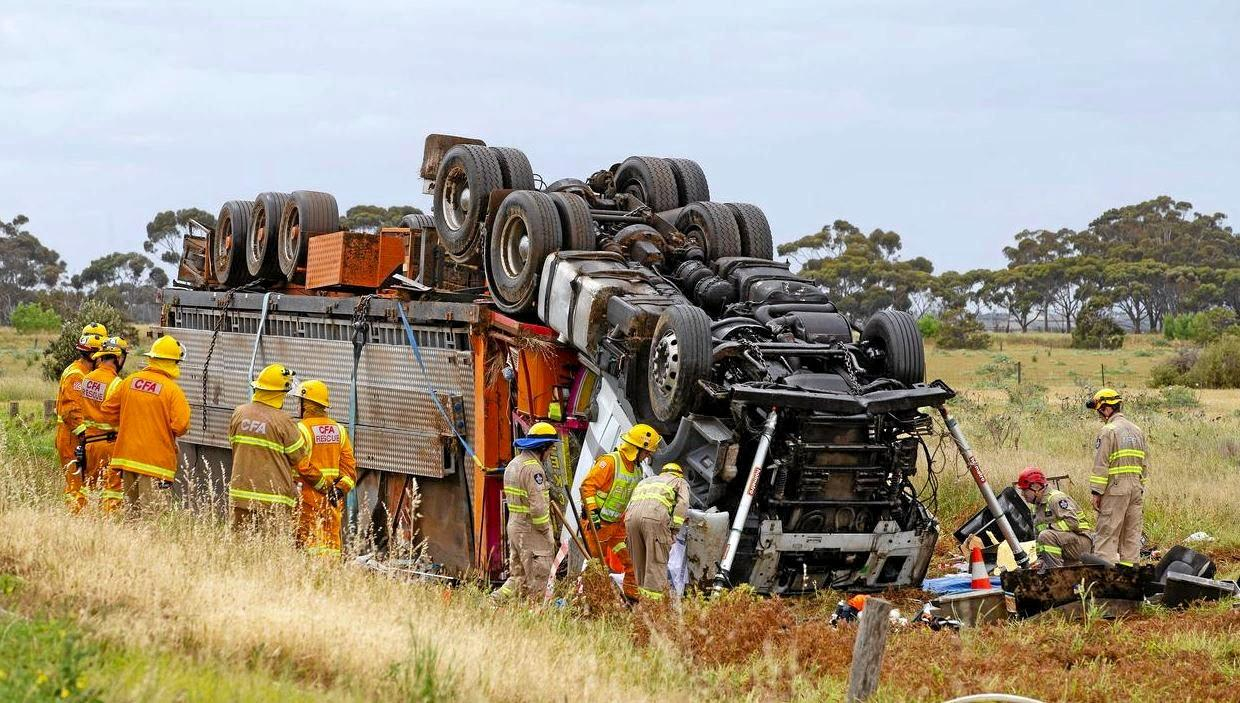 TRAGIC: A truck driver died in a horror smash in Victoria in early November.