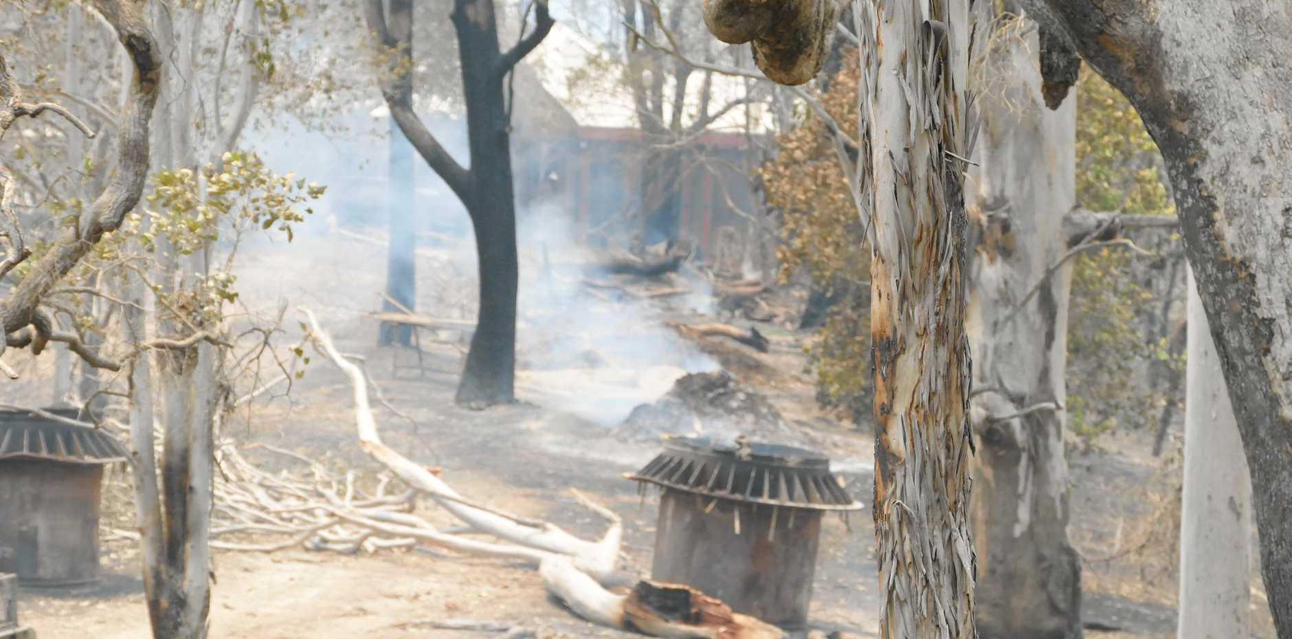 WARZONE: the scene on Rod Zietsch's property after Friday's bushfire,