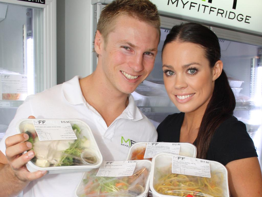 Youfoodz founder Lance Giles and his partner Jordana Stott. Photo: Katrina Jones.