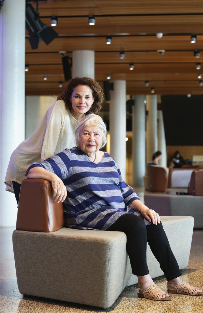 Feminist Merle Thornton with actor daughter Sigrid. Picture: AAP Image/Claudia Baxter.