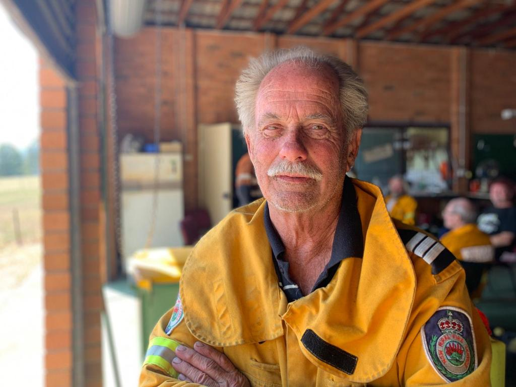 Killabakh Rural Fire Service volunteer Ian Scarr recounts his horror night protecting the NSW village. Picture: James Hall