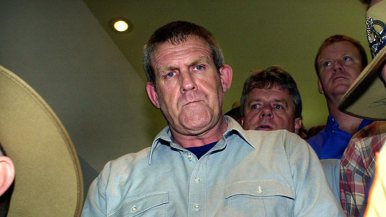 Backpacker killer Bradley John Murdoch, seen here at Darwin Airport in November 2003, has been diagnosed with cancer, the NT News can reveal. Picture: Patrina Malone