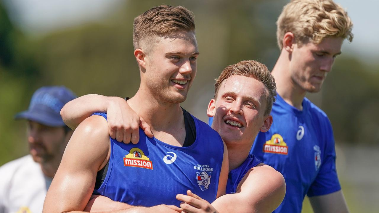 Josh Schache has signed a new contract at the Western Bulldogs. Picture: Scott Barbour