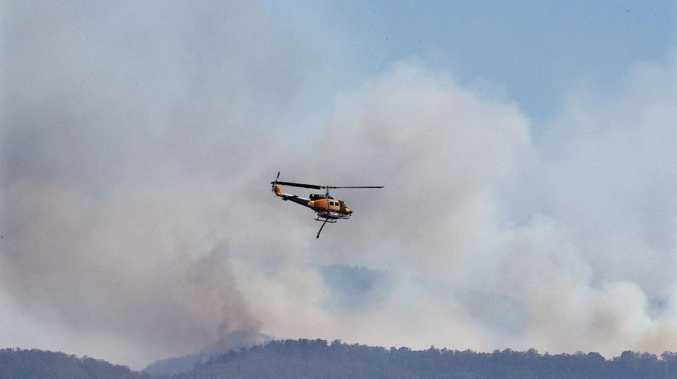 Residents prepare for evacuation at Spicers Peak
