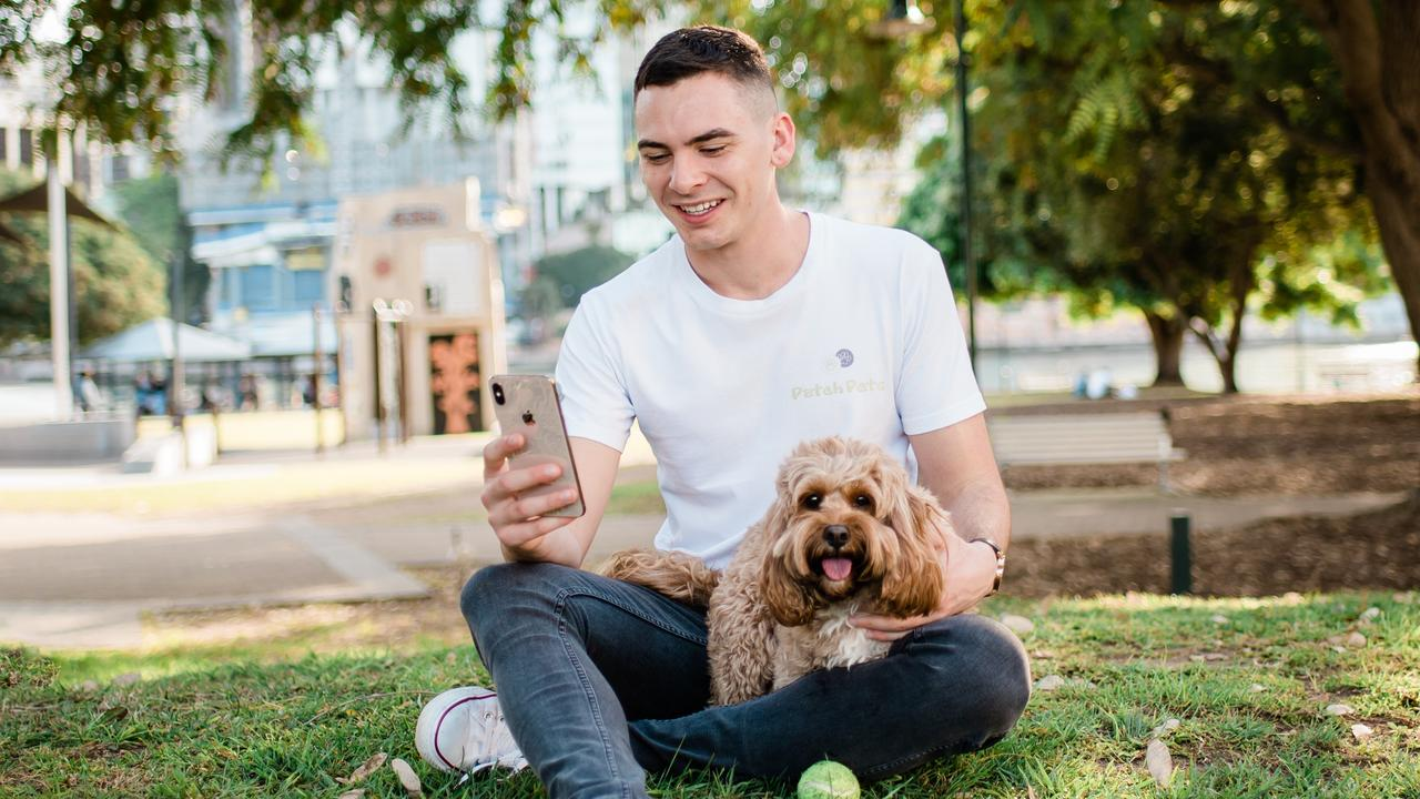 PatchPets Founder Josh Fritz with his dog Quincy.
