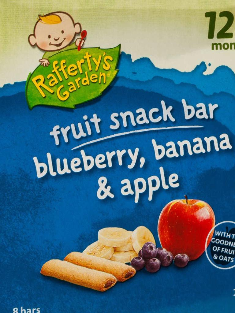 Rafferty's Garden fruit snack bars are on the list.
