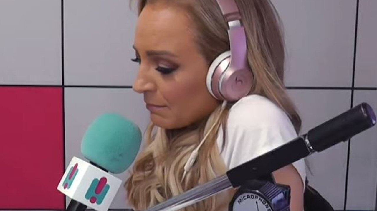 Carrie's face said it all during the emotional interview. Picture: YouTube.