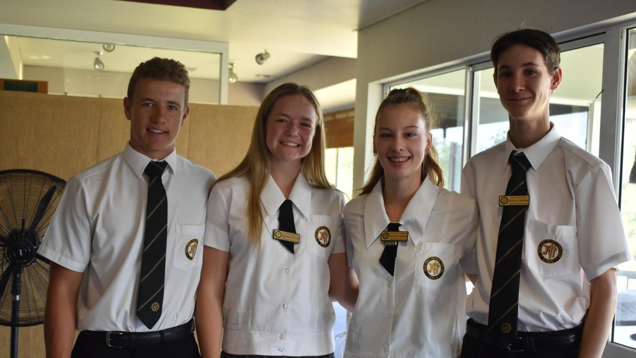 2020 James Nash school captains attended the breakfast meeting (from left) Joseph Greer, Dillyn Blackburn, Lillianne Chambers and Noah Strachan.