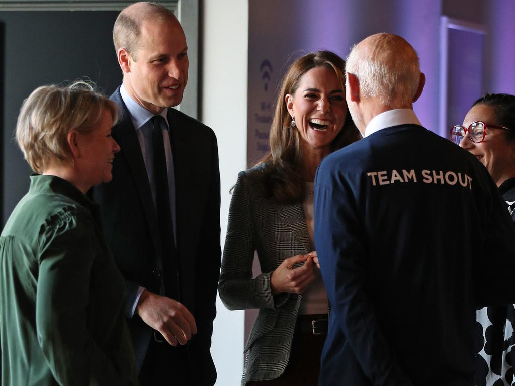 Prince William, Duke of Cambridge and Catherine, Duchess of Cambridge attend Shout's Crisis Volunteer celebration event at Troubadour White City Theatre. Picture: Getty Images