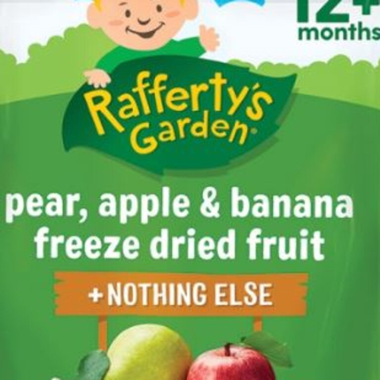 Rafferty's Garden freeze-dried fruit snacks are high in sugar.