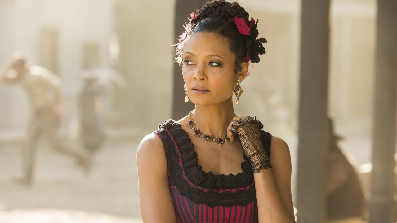 Thandie Newton in a scene from HBO/Foxtel drama Westworld. Picture: HBO International