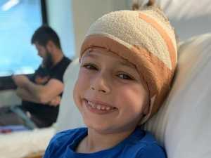BRAVERY: Little Mitchell's family shares brain tumour battle