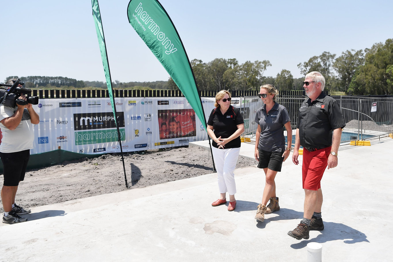 The Daniel Morcombe Foundations Build it for Kids project is one step closer as the concrete slab officially poured this week. Photo Patrick Woods / Sunshine Coast Daily.