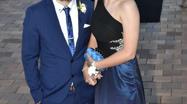 Isaac Smith and Isabelle Lammas. Wilsonton State High School formal at USQ. School Formals 2019. Picture: Bev Lacey