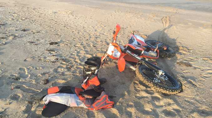 Beach crash results in serious neck injury