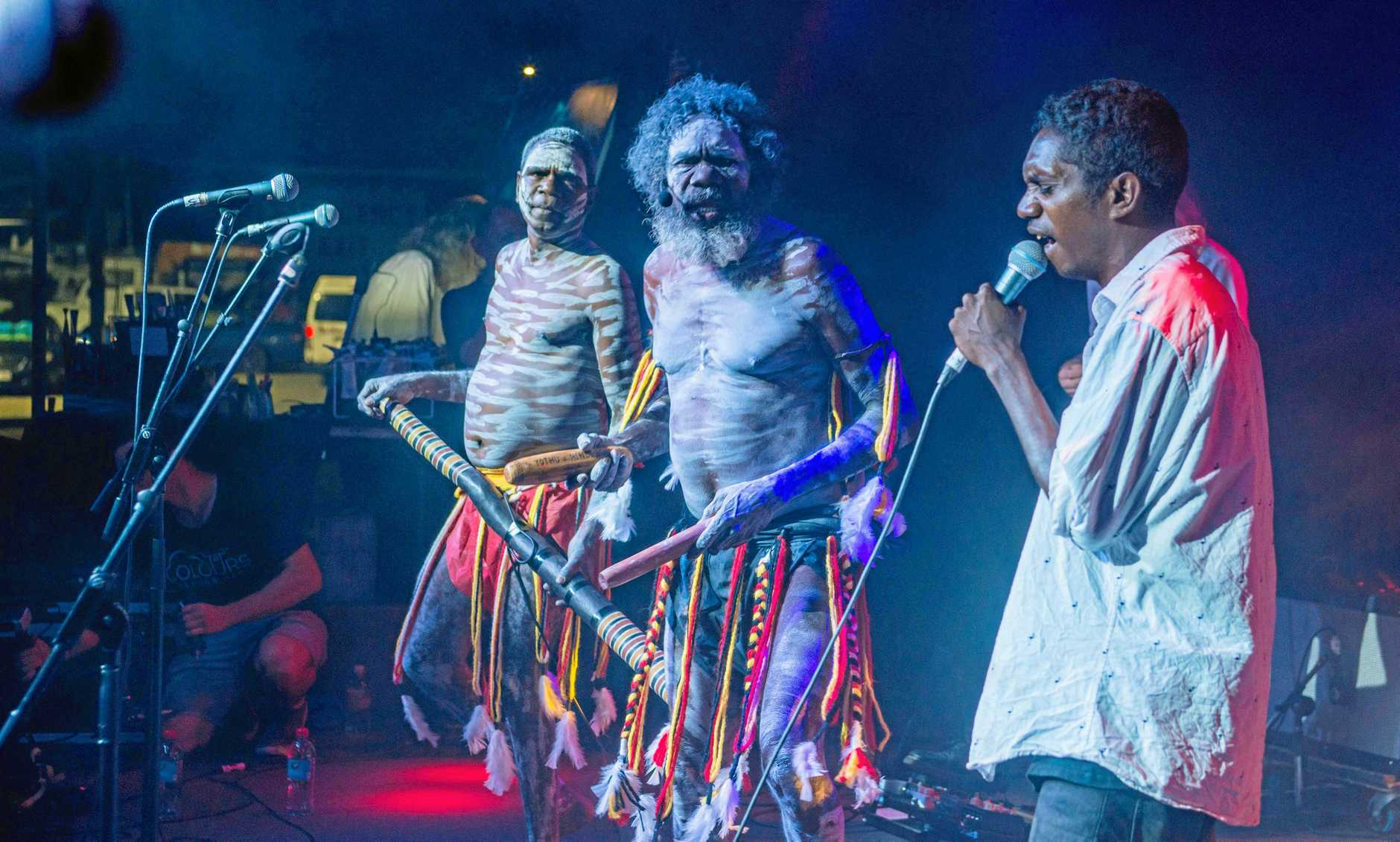 Yothu Yindi perform at the 2019 Airlie Beach Festival of Music. PHOTO: Andrew Pattinson / Vampp Photography