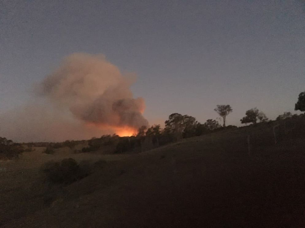 Emmelene Stevens shared this photo of the Pechey fire on Wednesday night.