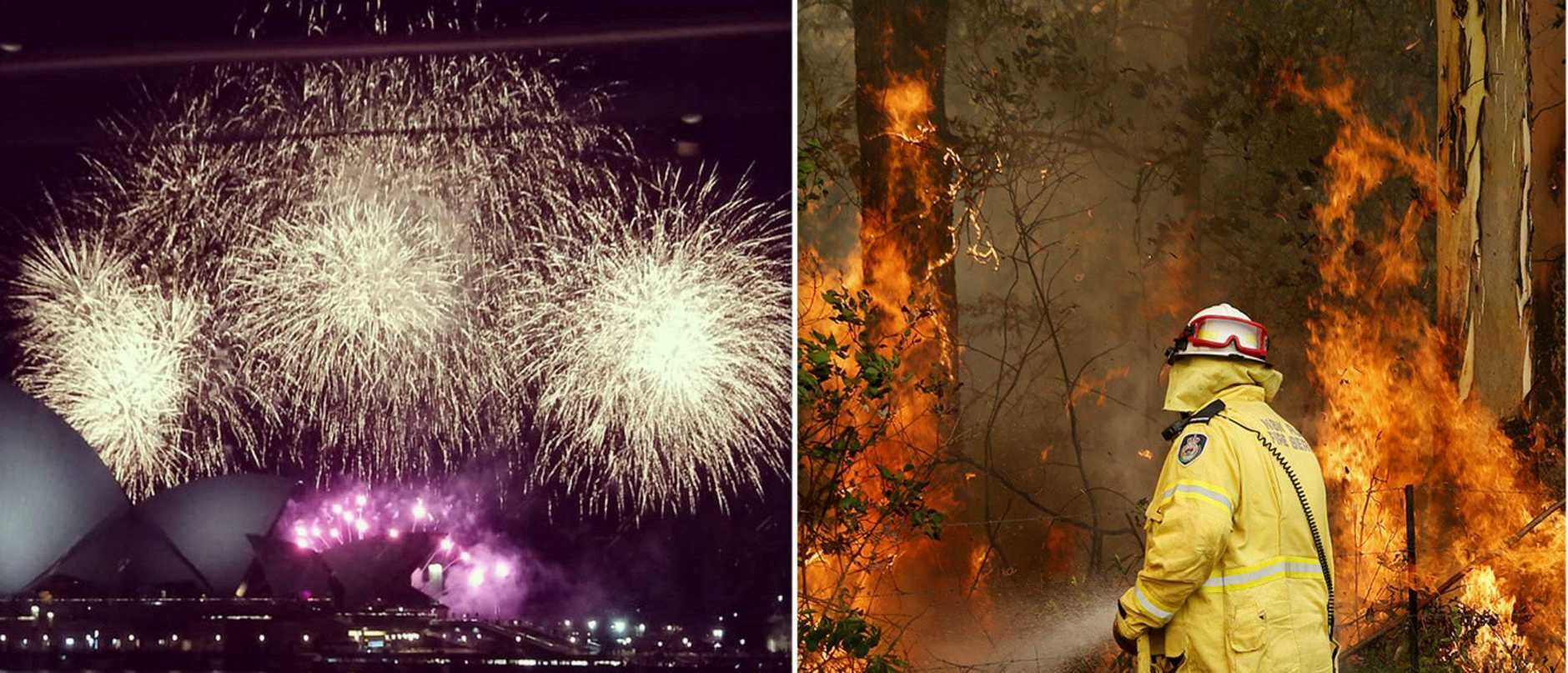 People took to social media last night to slam the use of fireworks in Sydney.