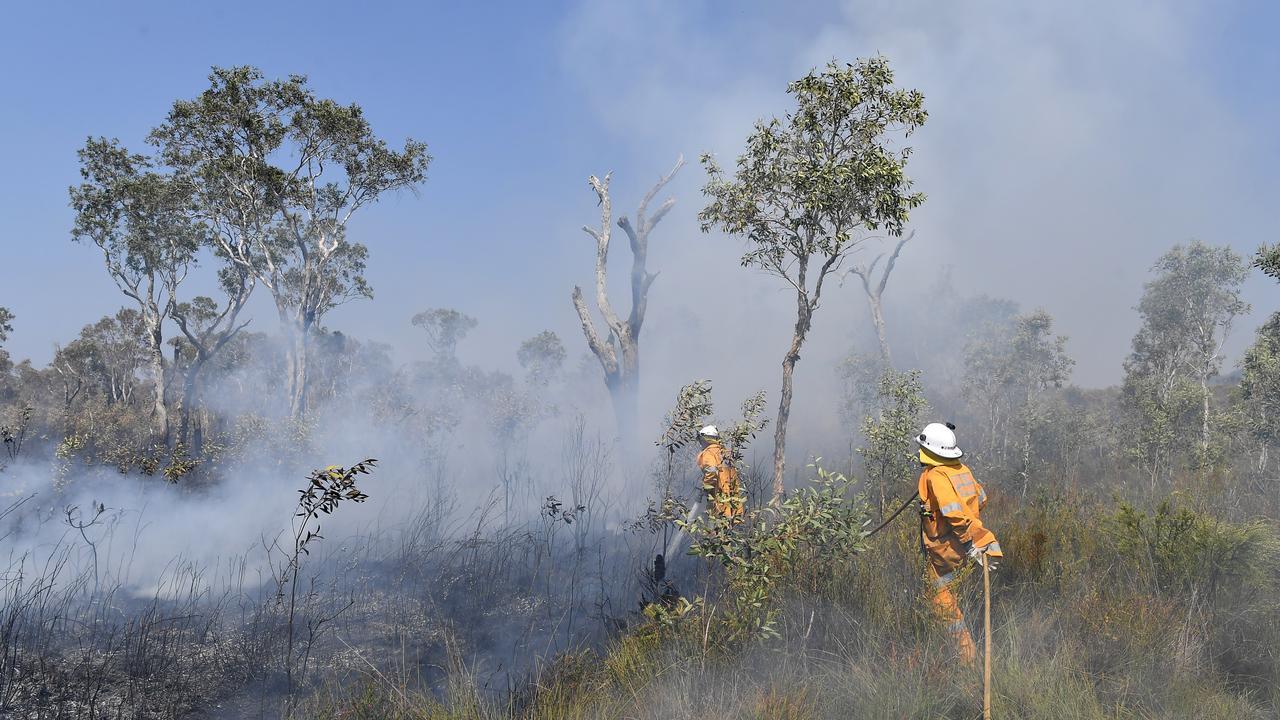 Noosa North Shore bush fire. Photo Patrick Woods