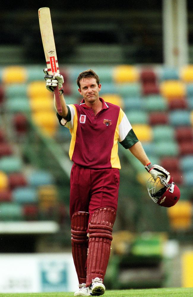 Martin Love salutes after another ton in 2001.
