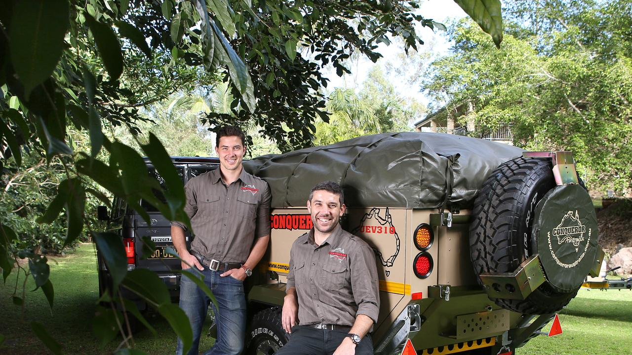 Brothers Dan and Toby Bosschieter produce the Conqueror range of tough campers.