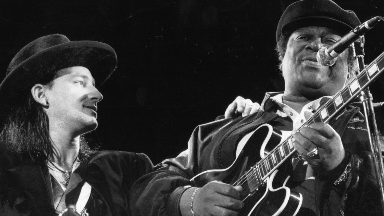 BB King also opened for U2 on the Lovetown tour. Picture: News Corp Australia