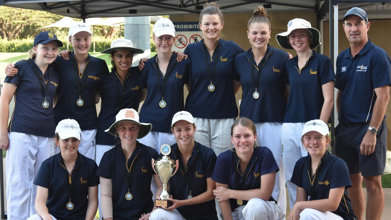 Fairholme College celebrates its victory in the StreetSmarts Secondary Schools T20 Challenge.