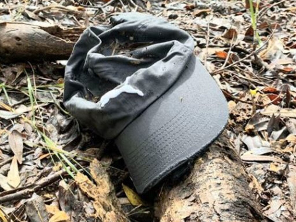 On July 7, a grey Puma cap was found in bushland off Tallow Beach more than five weeks after Theo disappeared.